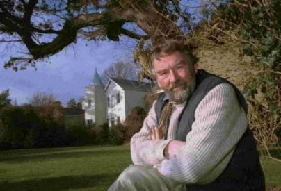 John Fowles, of French Lieutenant's Woman Fame, in the Garden at Belmont
