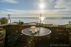 Breakfast view from the terrace of Sundial House, Lyme Regis 22_11_15 (1000px)