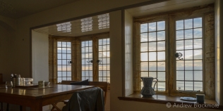 Early morning view through windows in Sundial House, Lyme Regis 22_11_15-1 (1000px)