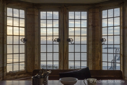 Early morning view through windows in Sundial House, Lyme Regis 22_11_15-6 (1000px)